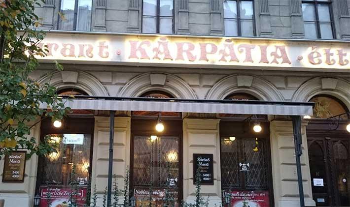 Kárpátia Restoran Budapeşte