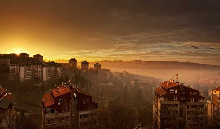 Miljakovac gün batımı