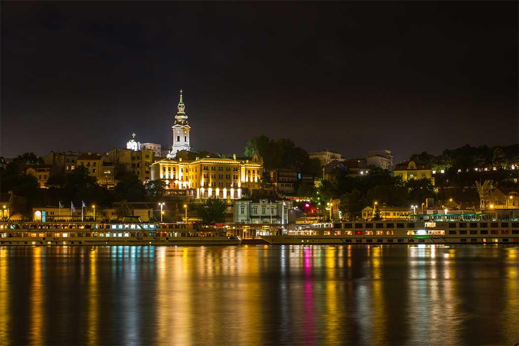 Belgrad Gece Sava Nehri'nden genel görünüş