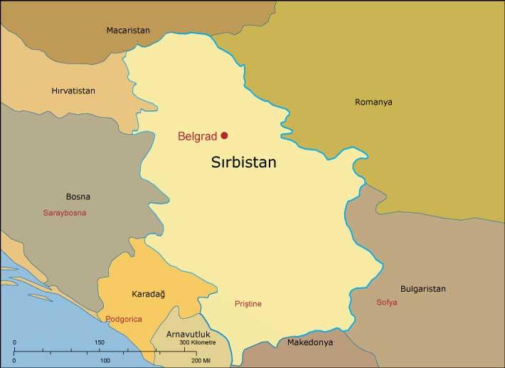 Sırbistan - Belgrad haritası. Belgrad nerede?
